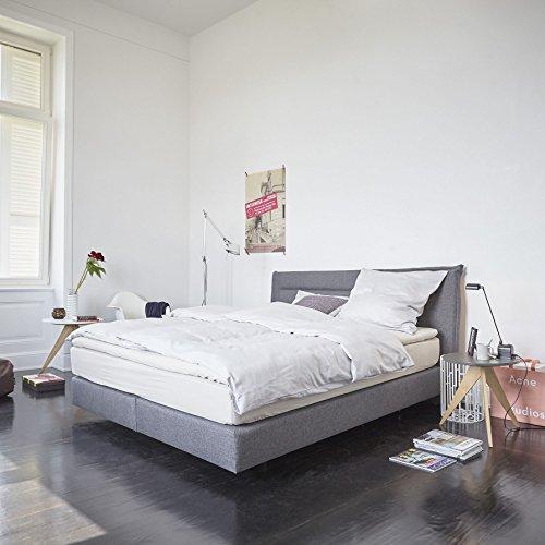 Now! Boxspringbett 164 x 210 cm, h 106 cm - grau