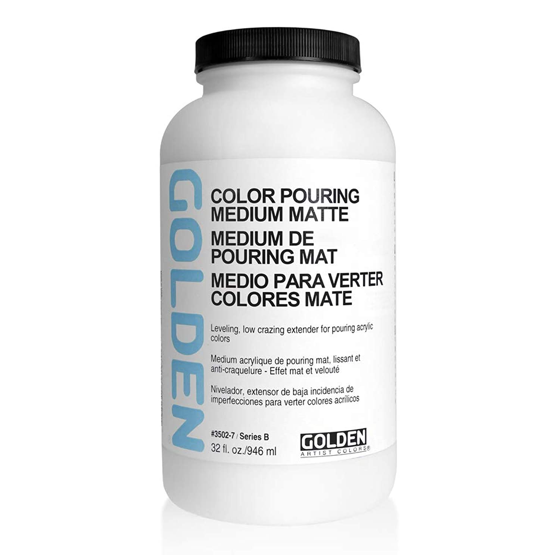 定期的な折り目インスタンスGolden Artist Colors Color Pouring M マット仕上げ 32オンスボトル (3502-7)