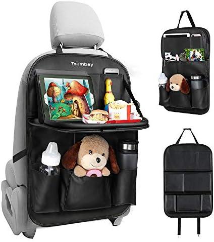 Tsumbay Car Backseat Organizer with Tablet Holder 9 Storage Pockets PU Leather Car Storage Organizer product image