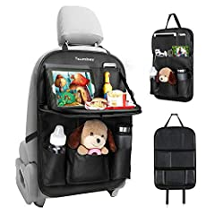 🚗【Premium PU leather】--- This car seat organizer is made of high quality PU Leather with perfect waterproof property and good durability. Making your car looks very luxurious! Besides, it protects the back of your car seat from dust, abrasion and kic...
