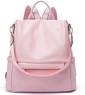 Rucksack Damen Leder Mode Diebstahlsicherer Reiserucksack Anti Diebstahl Schultertasche für Frauen 2 in 1 Rosa