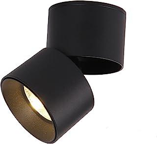 TWSXTE Spot en Saillie Orientable 7W LED Spots de Plafond Plafonnier Aangle Réglable Applique de Plafond Lampe COB, Rotati...