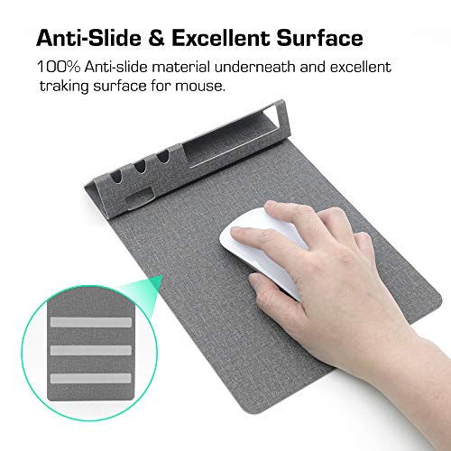 SenseAGE Multi-Functional Mouse Pad, 3-in-1 Ultra Smooth Mouse Pad with Non-Slip Base, Portable Slim Mouse Mat, Phone & Pen Holder, Cord Organizer for Home & Office, Navy Blue Photo #8