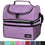 Insulated Dual Compartment Lunch Bag for Women, Ladies | Double Deck Reusable Lunch