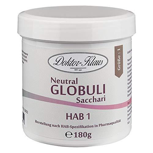 180g Neutral Globuli HAB 1, Doktor-Klaus, reine Saccharose, in weisser Dose
