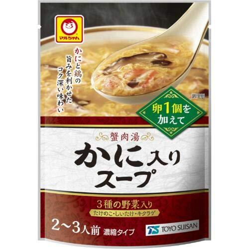 マルちゃん 中華スープ 250g (かに入りスープ, 3袋)