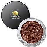 mudFlower Cosmetics Organic mineral loose powder satin eye shadow, Mocha Ice, 2.8 Gram