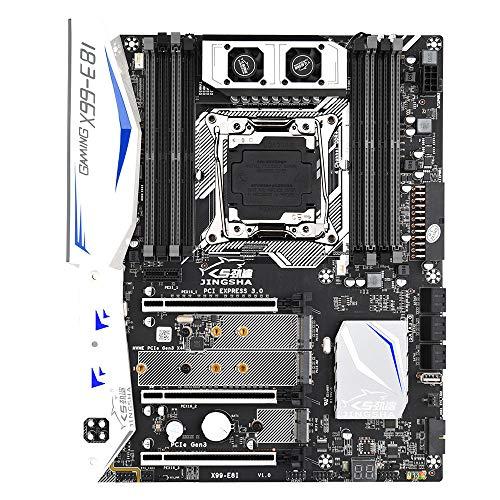 Tomshin Placa-mãe para jogos Tomshin X99-E8I com 8 slots de memória DDR4 6 portas SATA3.0 com suporte para CPU da série Intel Xeon E5 LGA2011-3 V3 / V4