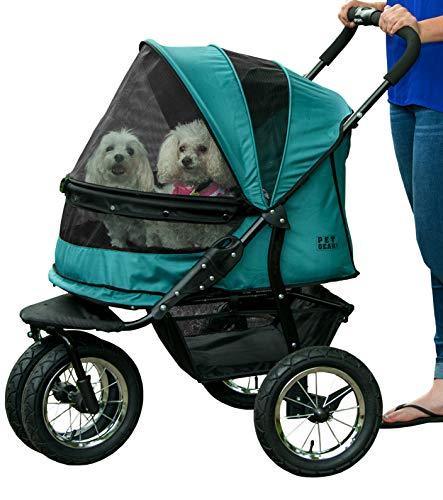 Best Pet Gear NO-ZIP Double Pet Stroller for Rough Terrain