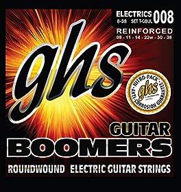 .008 .011 .014 .022 .030 .038 - Juego / Guitarra EléctricaUltra LightNickel Plated SteelRoundwoundHexagonal CoreVeredelte Diskant SaitenMade in USA