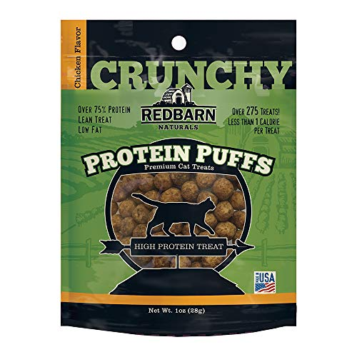 Redbarn Protein Puffs Crunchy Chicken Flavor Treats for Cats 1 Ounce