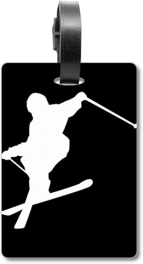 Tabla de esquí Deportiva, Color Negro, Silueta de esquí, Maleta de Crucero, Etiqueta de identificación de turista