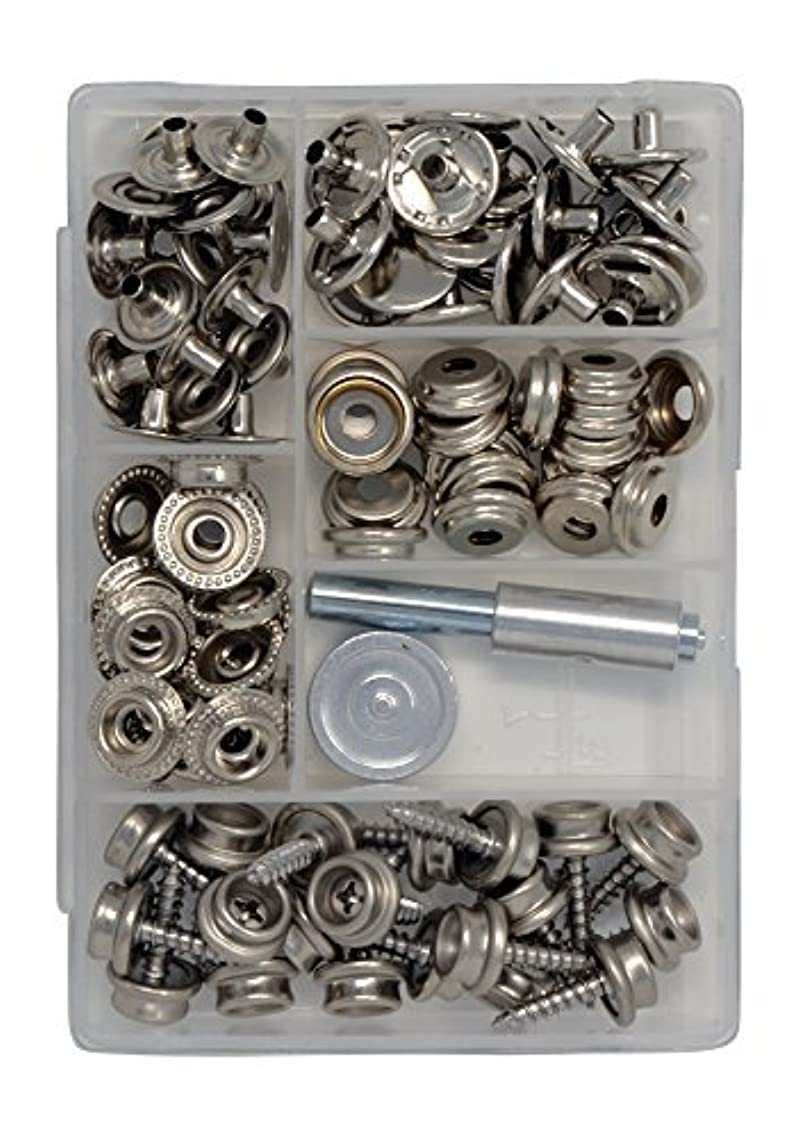 Canvas and Upholstery Boat Cover Snap Button Fastener Kit w/Installation Tool - 101 Pieces
