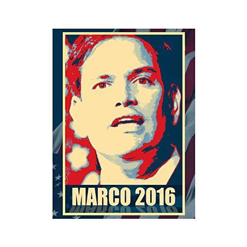 Hat Shark Vinyl Sticker - Marco Rubio - 2016 Presidential Candidate Design
