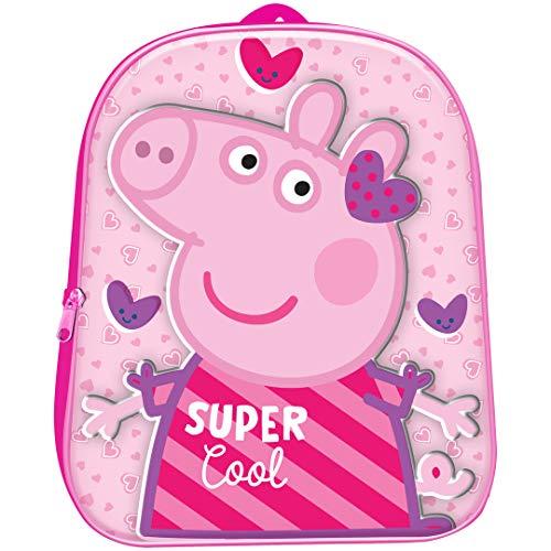 Peppa Pig Mochila 3D Infantil Peppa Pig Guarderia 31cm