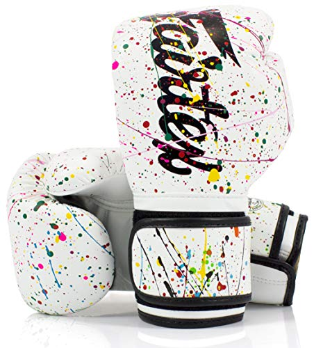 Fairtex Microfibre Boxing Gloves Muay Thai Boxing - BGV14, BGV1 Limited Edition, BGV12, BGV11, BGV18 (Painter, 16 oz)
