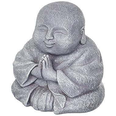 Grasslands Road Happy Praying Buddha Statue Figurine