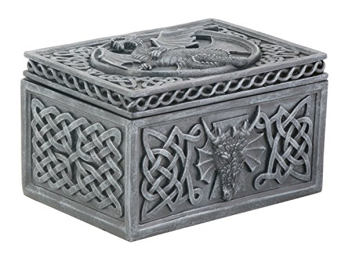 Summit stealstreet Dragon Celtic Jewelry Box Collectible Tribal Container Skulptur