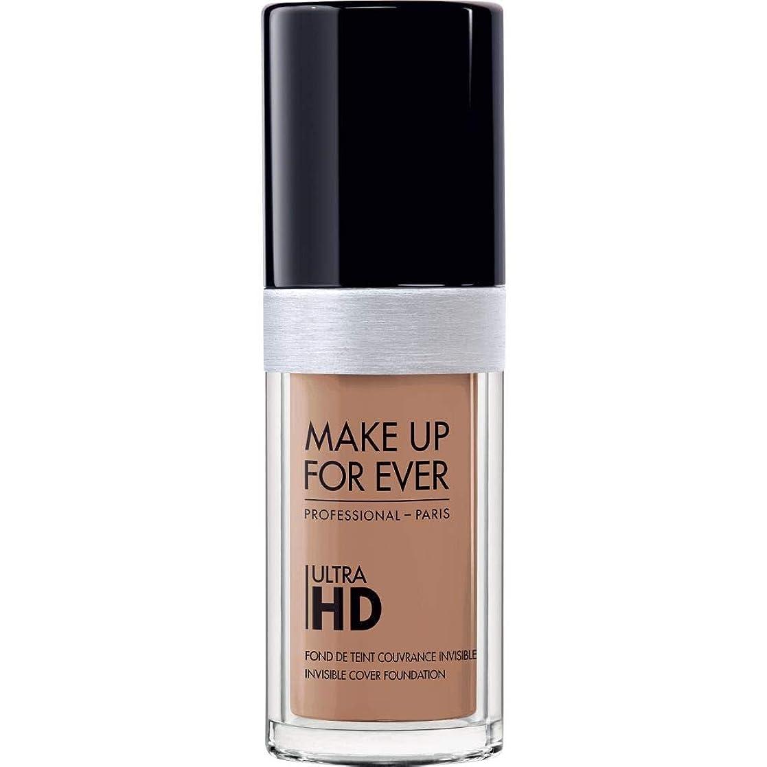 うがい薬陰気アルファベット順[MAKE UP FOR EVER ] 目に見えないカバーファンデーション30ミリリットルのY435 - - これまでの超Hdの基盤を補うキャラメル - MAKE UP FOR EVER Ultra HD Foundation - Invisible Cover Foundation 30ml Y435 - Caramel [並行輸入品]