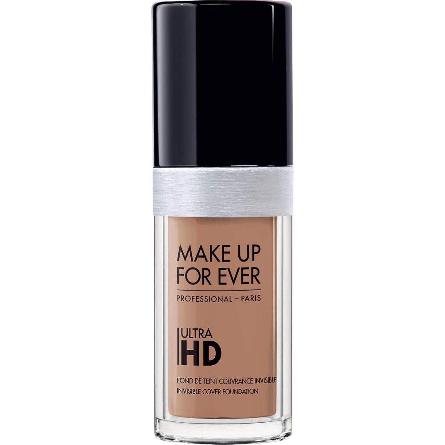手がかり突然の先[MAKE UP FOR EVER ] 目に見えないカバーファンデーション30ミリリットルのY435 - - これまでの超Hdの基盤を補うキャラメル - MAKE UP FOR EVER Ultra HD Foundation - Invisible Cover Foundation 30ml Y435 - Caramel [並行輸入品]