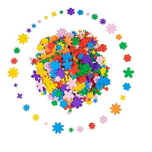 Pegatinas de espuma para niños, formas de flores autoadhesivas (700 piezas)