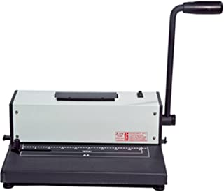 Tamerica TPC-4600 Coil Punch & Bind Machine, 4:1 Pitch, 15 sheets of 20lb paper up to A4 size max. punching capacity, 45 mm max. binding capacity, 46 hole punch with extension pin for longer sheets
