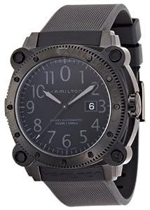 Hamilton Men's H78585333 Khaki Navy BelowZero Black Dial Watch image