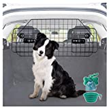 Heavy-Duty Dog Car Barrier, Pet Divider for SUV or Wagons + Free Bonus Collapsible Bowl & Waste Dispenser and Bags,...