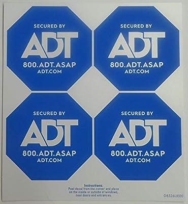 ADT Window Sticker Decal Authentic Light Blue