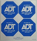 ADT Window Sticker Decal Authentic Light Blue