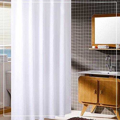 Z-one Wasserdichte Polyester duschvorhang mit Haken Premium Hotel qualität dicken schimmel & mehltau resistente licht-Shading Bad vorhänge -Weiß 180cmx80cm (71''x32'')