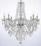 Crystal Chandelier Lighting 33ht X 28wd 8 Lights Fixture Pendant Ceiling Lamp