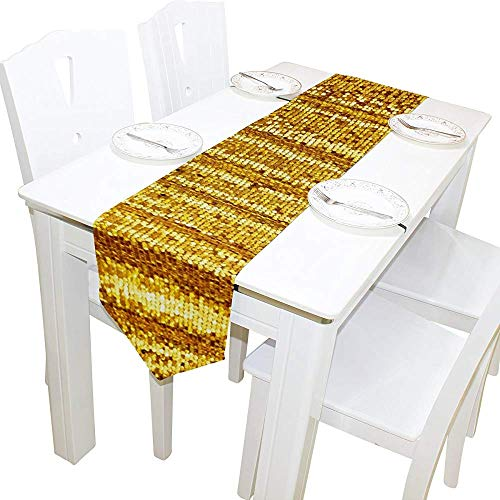 Tafelloper Home Decor, stijlvolle mooie gouden glitter zeemeermin tafelkleed Runner Coffee Mat