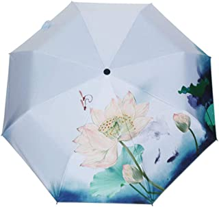Automatic Folding Umbrella,Creative Classical Umbrella, Easy to Carry for Both Men and Women ,with Ergonomic Handle