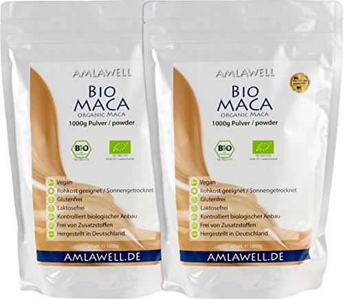 Amlawell Bio-Maca-Pulver 2kg / BIO - DE-ÖKO-039 (2000g)