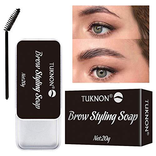 Soap Brows, Eyebrow Shaping Soap, 3D Augenbrauen Make-up Gel, Augenbrauen Styling Seife, mit Pinsel Wasserdichte, für die Erstellung von 3D Brushed Up Eyebrows Wild Brauen Make-up