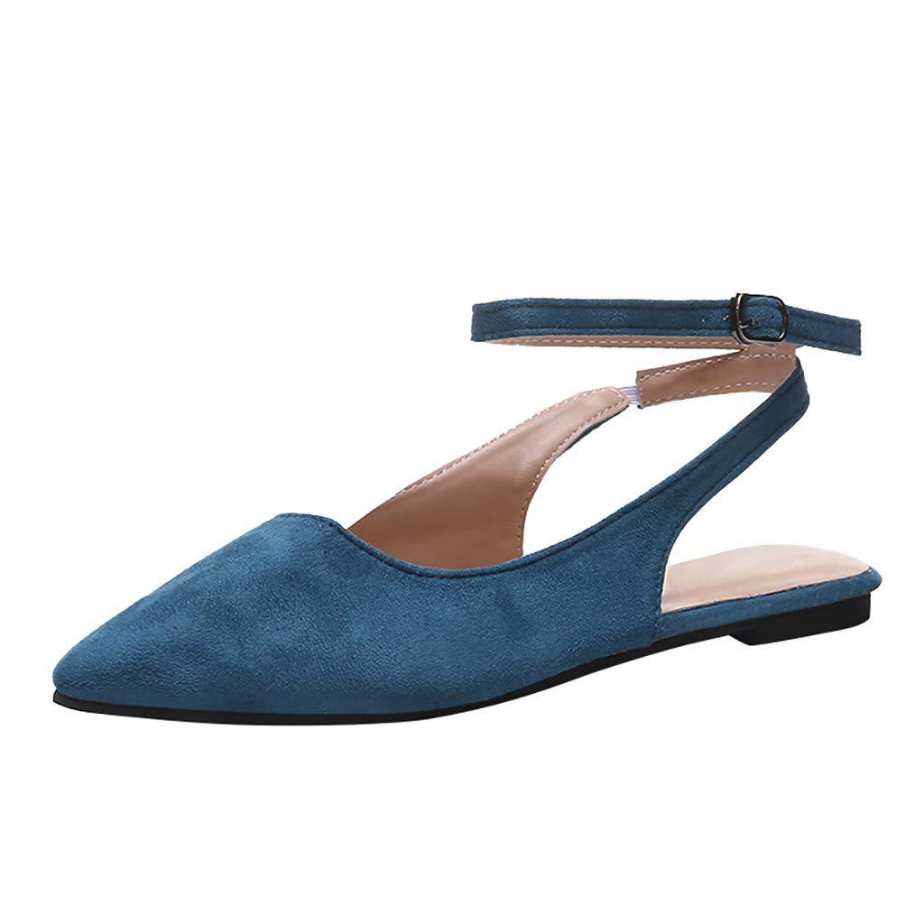 Women Flat Slippers Summer,SIN+MON Womens Retro Slides Hemp Rope Toe Ring Flip-Flops Anti-Skip Roman Sandals Beach Shoe