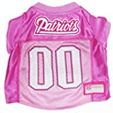 New England Patriots Dog Jersey Pink, X-Small. - Football Pet Jersey in Pink
