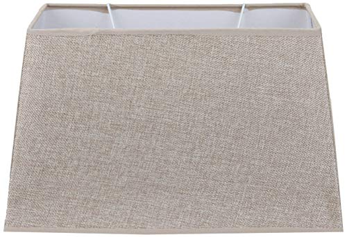 Better & Best 35X20 Abat-jour en lin, rectangulaire, 35 x 20 cm, couleur grise, dimensions inférieures : 34 x 19 ; supérieur : 28,5 x 15 ; hauteur : 21 cm, CAMEL