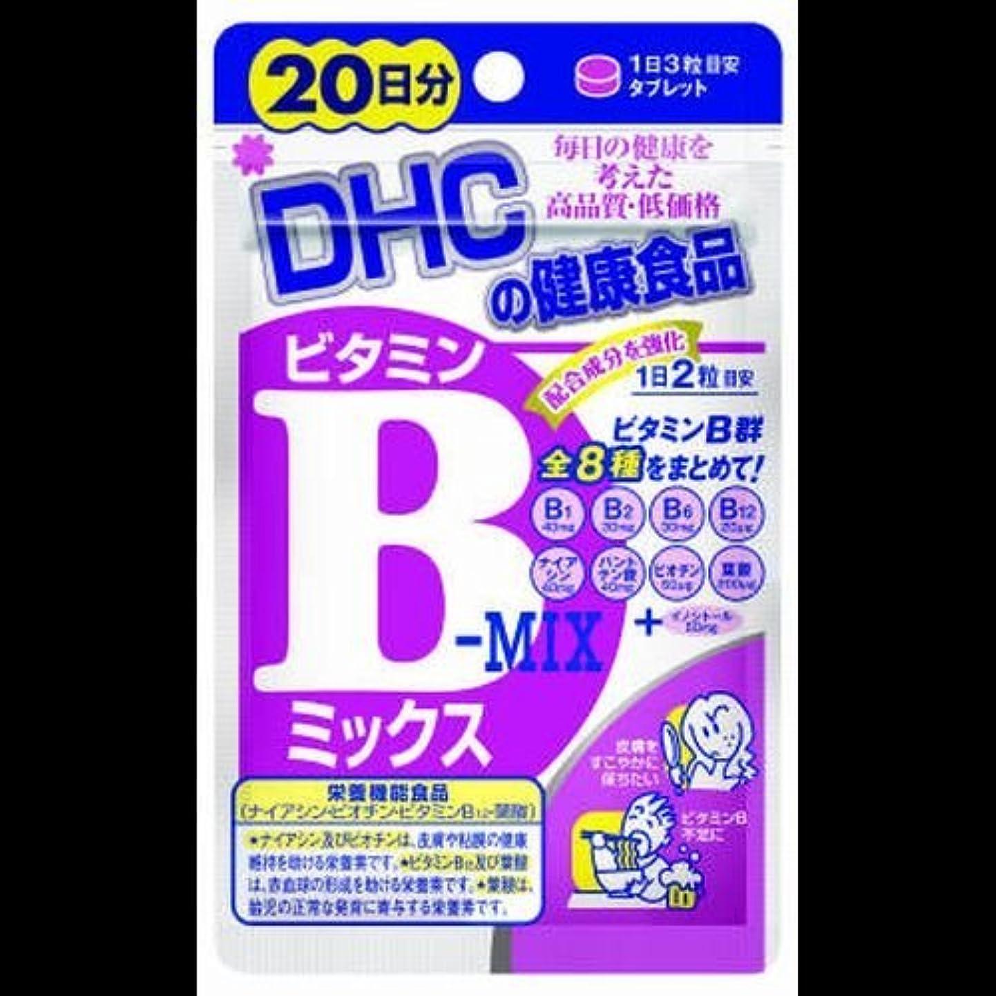 ハブ案件バス【まとめ買い】DHC ビタミンBミックス 20日 40粒 ×2セット