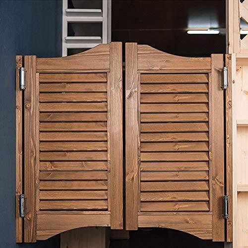Guowei Jalousie Saloon Schwingtür Cafe Bar Küche Eingang Restaurant Drinnen Verwenden Holz Raumteiler Scharniere Inbegriffen Rustikal, Anpassbar (Size : 900cmx90cm)