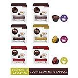 Nescafé Dolce Gusto Kit Degustazione di Caffè Espresso Napoli, Espresso Roma ed Espresso Milano, 6 Confezioni da 16 Capsule (96 Capsule)
