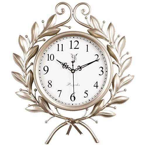 AIOJY Reloj De Pared Retro Americano Operado por Batería Sin Tictac Movimiento De Barrido Silencioso Rama De Oliva Reloj De Pared Decorativo para El Hogar Reloj De Pared De Cuarzo De La Sala De Estar