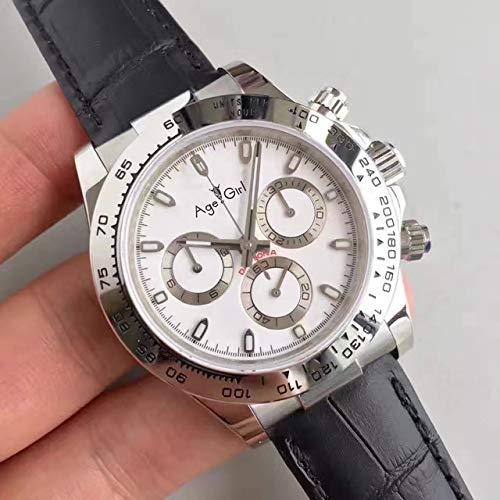 Herrenuhr Automatic Mechanical Agent Voller Edelstahl Silber Gold Schwarz Uhren Saphir Leder Weiß