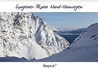Lyngener Alpen Nord-Norwegen (Wandkalender 2022 DIN A2 quer): Die Lyngener Alpen im norwegischen Winter (Monatskalender, 14 Seiten )