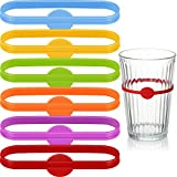 18 Pieces Wine Drink Markers Beer Glass Cup Markers Bottle Strip Tag Markers Cocktail Glass Bottle Drink Markers for Home Bar Cocktail Party Supplies
