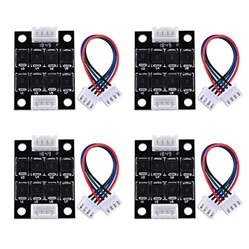 SIQUK 4 Stück TL Smoother Addon Modul 3D Druckerzubehör Filter zur Mustereliminierung Motor Clipping Filter