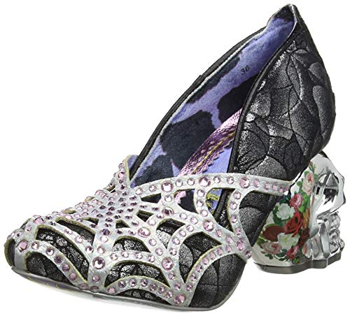 Irregular Choice Damen Dead Gorgeous Pumps, (Silver/Black B), 6 EU