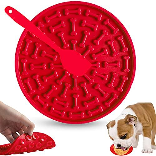 Almohadilla para Lamer Perros, Silicona Almohadilla Lamer, Alfombrilla de alimentación Lenta para Mascotas, Almohadillas Lamer Mascotas con Ventosa para Mascotas Baño Aseo y Entrenamiento Perros