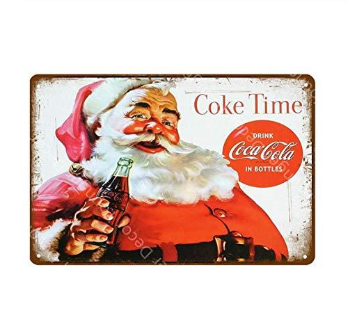 LHCY Carteles De Chapa De Metal Bebidas Heladas Decoración Coca Cola Cola Cartel Clásico Placa Vintage Pub Bar Club Cafe Shop Decoración De La Pared del Hogar